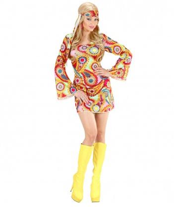 70er Jahre Hippie Kostüm Damen