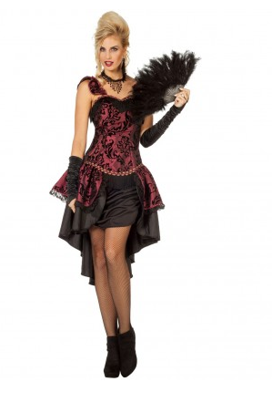 Burlesque Kostum Kleid Fur Damen Can Can Nerdydress De