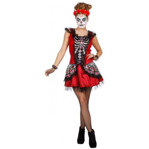 Dia de los Muertos Tag der Toten Kostüm Damen