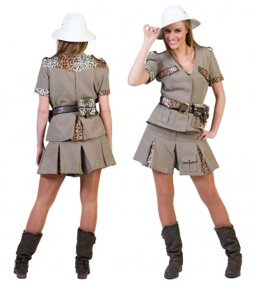 Dschungel Safari Kostüm Damen