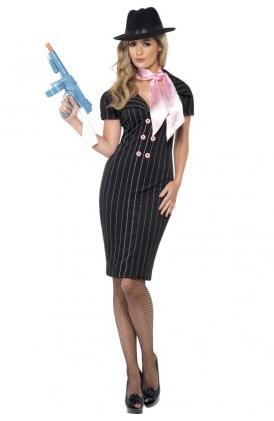 Gangster Mafia Kostüm Damen