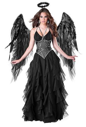 Gefallener schwarzer Engel Kostüm Damen