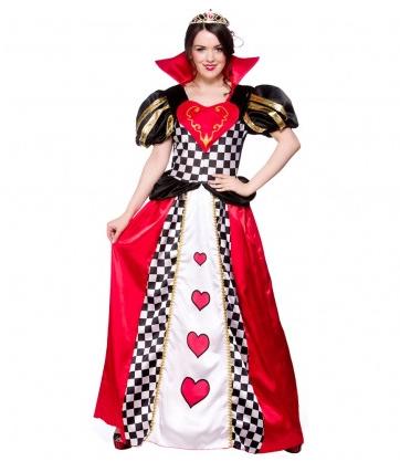 Herzkönigin Kostüm für Damen und Kinder