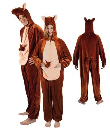 Känguru Kostüm Damen und Herren