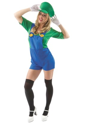 Mario und Luigi Kostüm Damen