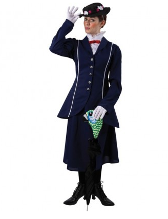 Mary Poppins Kostüm Für Kinder Damen Nerdydressde