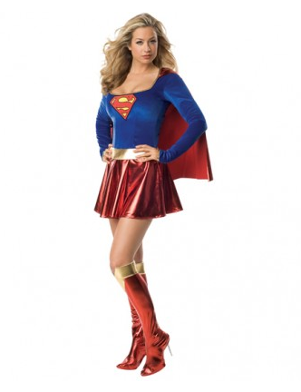 Supergirl Superwoman Kostüm Damen