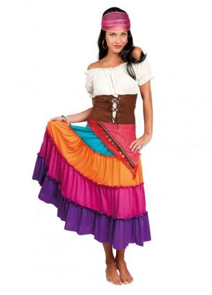 Wahrsagerin Zigeunerin Kostüm für Damen
