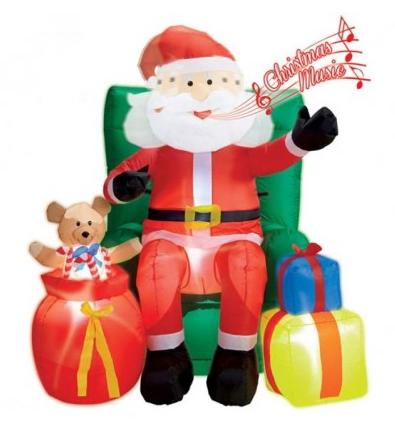 aufblasbarer Weihnachtsmann mit Musik