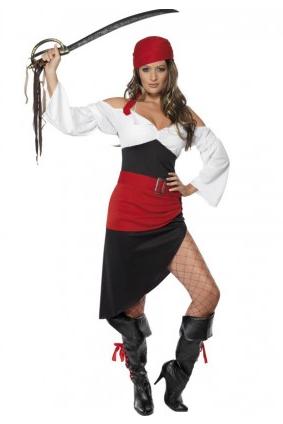 Damen Faschingskostüm Piratin