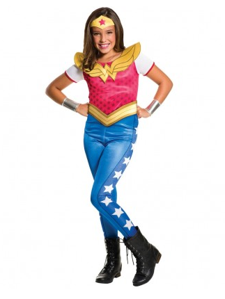 Wonder Woman Kostum Fur Kinder Damen Nerdydress De
